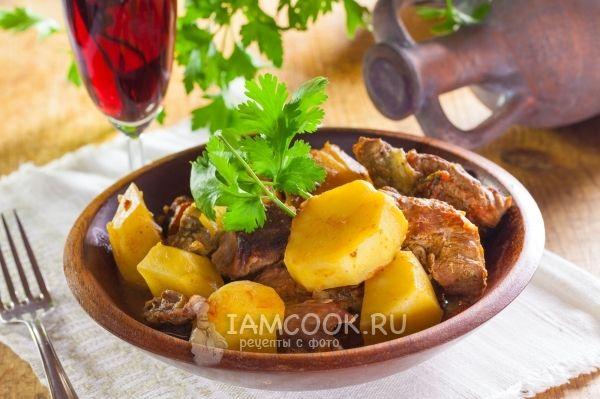 Чанахи из баранины в кастрюле (классический рецепт)