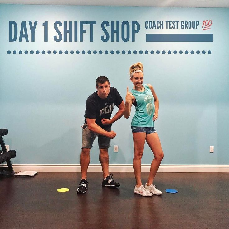DAY 1  Shift Shop Coach Test Group -  6:00 am wake up was tough especially when you didn't sleep all night! But grumpy and all we crushed it together!!! - The workout was awesome and under 30 minutes which is totally my jam!!! Dripping sweat and fatigued so it accomplished the goal of a great workout!!!  My workout buddy is back with his goofy faces and is in the test group too!! For the next 3 weeks we will be taking you on the journey to the results!!  - If you want all the details on the…