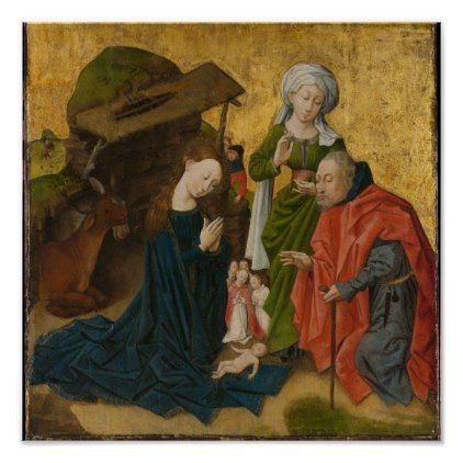 The Nativity circa 1460 Poster - baby gifts child new born gift idea diy cyo special unique design