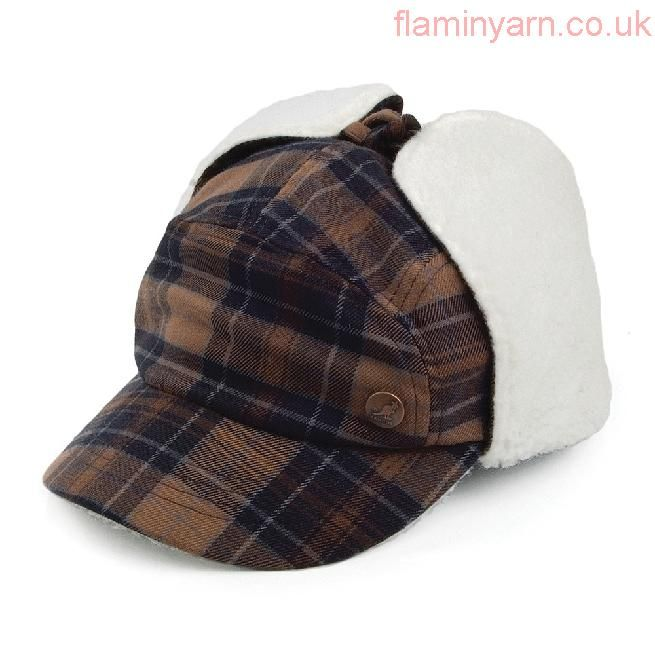 Buy Kangol Hats Plaid Supre Baseball Cap with Earlaps A Complete Range Of Specifications