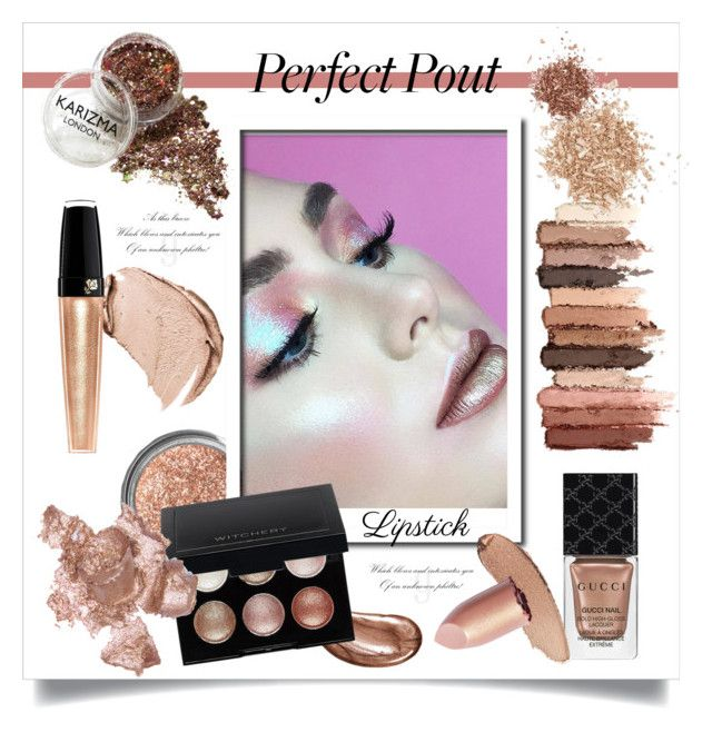 """""""Высокий Блеск: Металлик Помада!"""" by miss-image ❤ liked on Polyvore featuring beauty, Obsessive Compulsive Cosmetics, Laura Mercier, Witchery, Gucci, Christian Dior, Lancôme, tarte, By Terry and Topshop"""