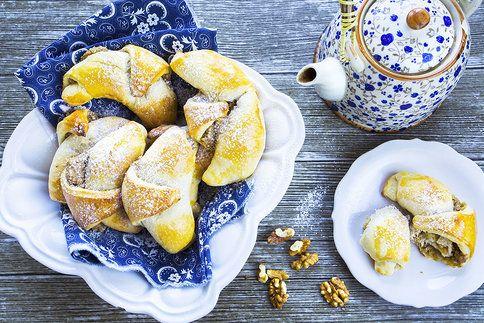 Ořechové rohlíčky jsou k odpolednímu čaji nebo kávě skvostný dezert!
