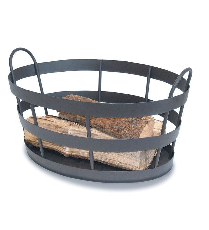 Wrought Iron Outdoor Log Bin | Wood Racks |Plow & Hearth