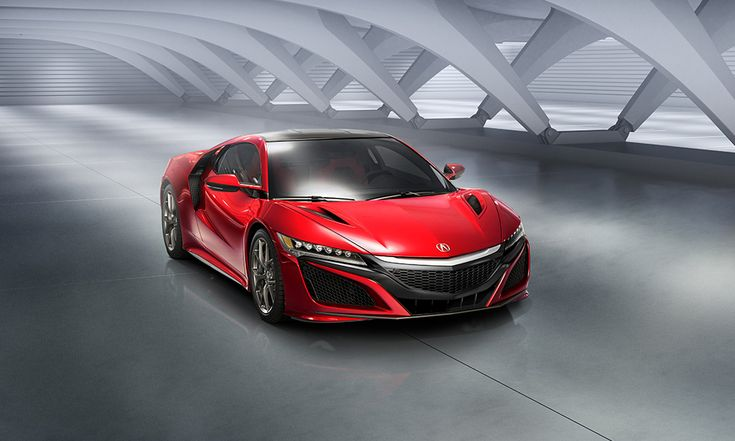 2016 Acura NSX. AWD. One electric motor for each of the front wheels, plus one paired with a mid-mounted twin-turbo V6.