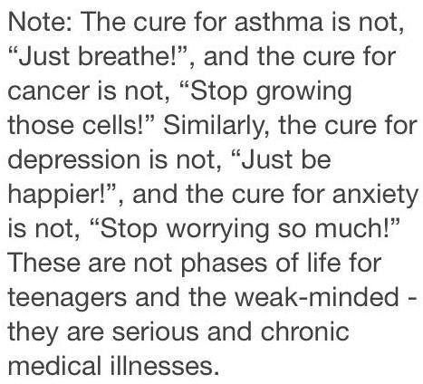 The whole world needs to believe this.  End the stigma towards mental health problems.
