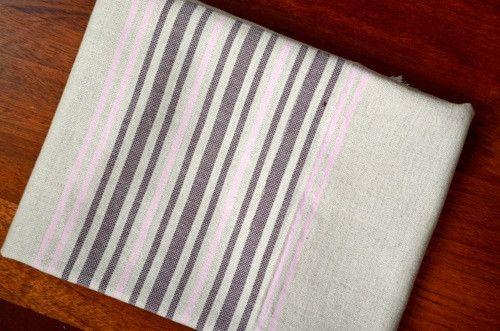 Usak Linen Bath Towel - Grape from Indigo Traders - Fine Mediterranean Textiles