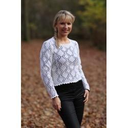 Hvid bluse med huller (67-2012 - opskrift) - Mayflower
