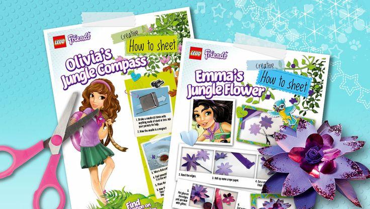 Download: How to make a compass and jungle flowers - Downloads - Activities - LEGO® Friends - LEGO.com - Friends LEGO.com