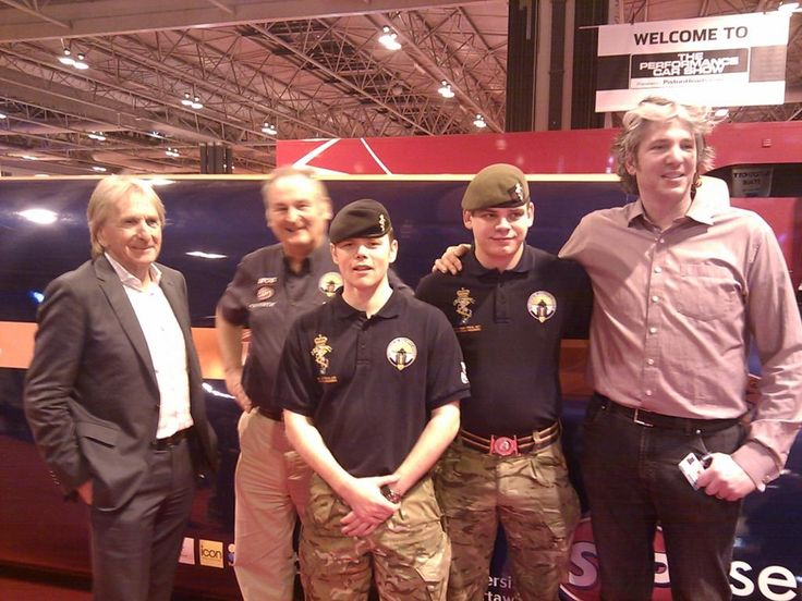 Army team with Derek Bell, Richard Noble and Edd China