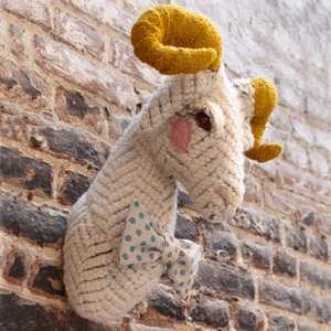 desaccord: Decor, Faux Taxidermy, Craft, Inspiration, Animal Heads, Knitting, Goat, Kids Room, Baby