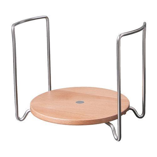 IKEA - VARIERA, Portapiatti, 12-19 cm, , È regolabile in larghezza in base alla misura dei tuoi piatti.Si può inserire in un cassetto profondo o appoggiare su un ripiano o sul tavolo.