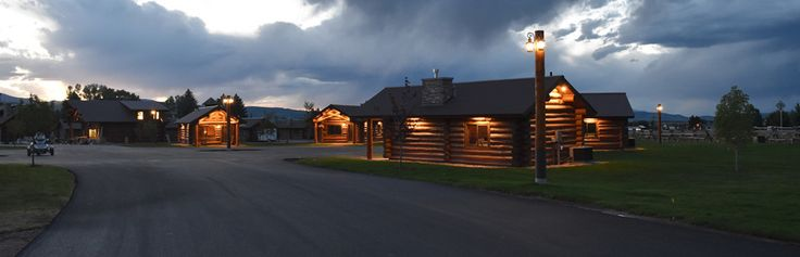 Visit Afton Wyoming and Stay in our cozy log cabins http://www.kodiakmountainresort.com/