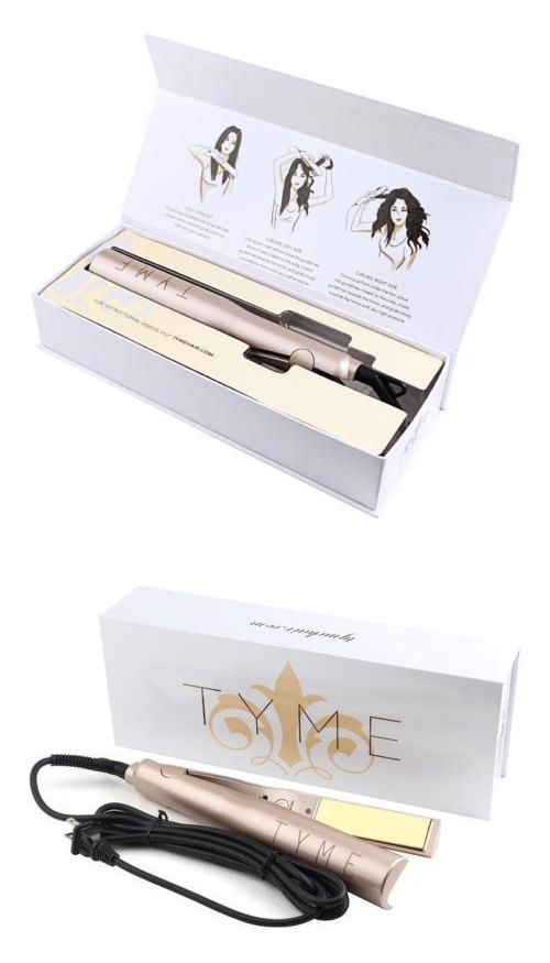 Hair Beauty: New In Box - Tyme Gold Plated Titanium Hair Straightening Curling Iron -> BUY IT NOW ONLY: $139.95 on eBay!