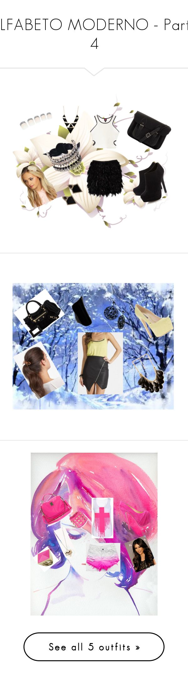 """""""ALFABETO MODERNO - Parte 4"""" by anninha1d ❤ liked on Polyvore featuring Notion 1.3, 2b bebe, Head Over Heels by Dune, The Cambridge Satchel Company, Boohoo, Monique Péan, MaxMara, Forever 21, Lipsy and Ruthie Davis"""