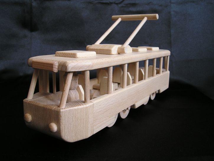 elektrische trams Straßenbahn Holzspielzeug für Kinder