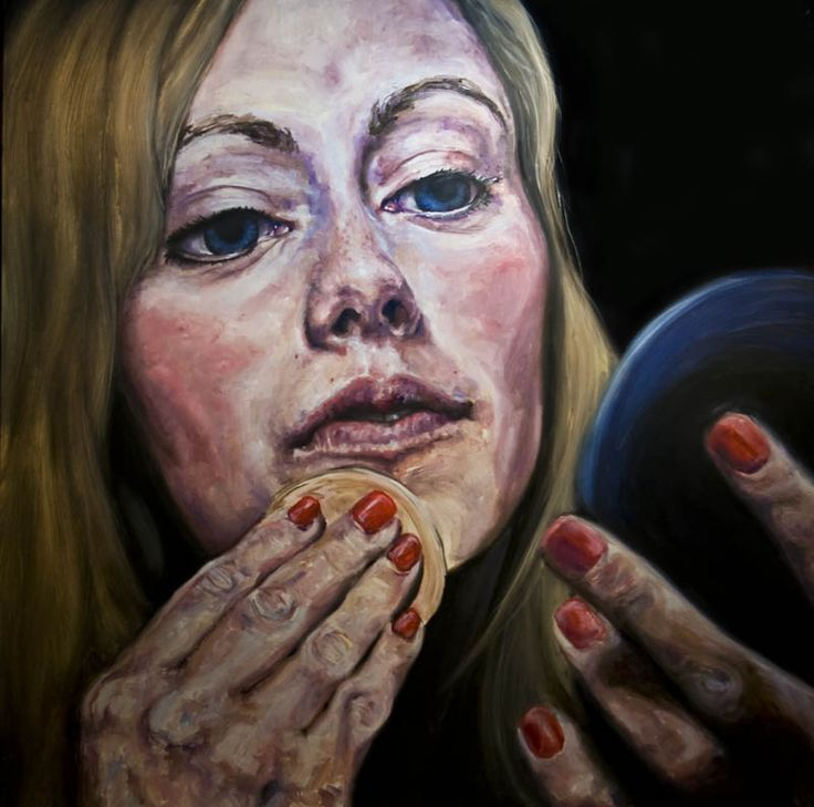 """SOLD - Cover Up - 48""""x48"""" - oil on board"""
