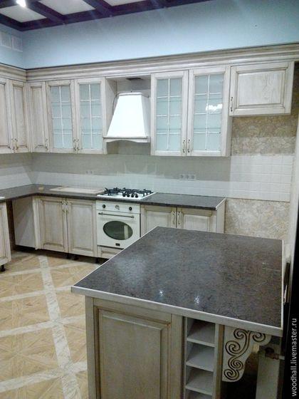 """Купить Деревянная кухня """"Прованс"""" из дерева - белый, кухня Прованс, кухня ручной работы"""