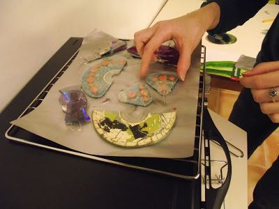 CDs, microwaves and jewelry | The World of Reducing and Reusing ~ this is the most complete post I've seen about working with the melting and coloring process of recycled CD's. Fantastic!!!!