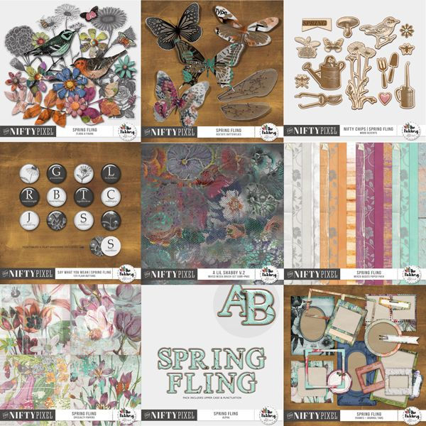 SPRING FLING | Bundle This Bundle has it all! It includes a mix of packs all coordinated to work together but are equally as pretty on their own. Mix them up to make some really gorgeous old world inspired heritage or spring projects and capture the promise of renewal and the change in the air.