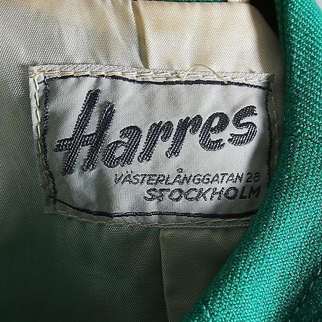 """Märkning i kappa från """"Harres"""", Stockholm. 1950/60tal."""