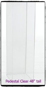 Pedestal Clear 48 inches tall