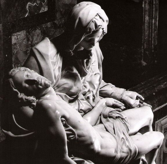 Pieta by Michelangelo. Can you believe that he created this masterpeice when he was JUST 21 years old? This is Mary holding Christ after he was resurrected for one last time. Imagine being a mother and feeling this way.