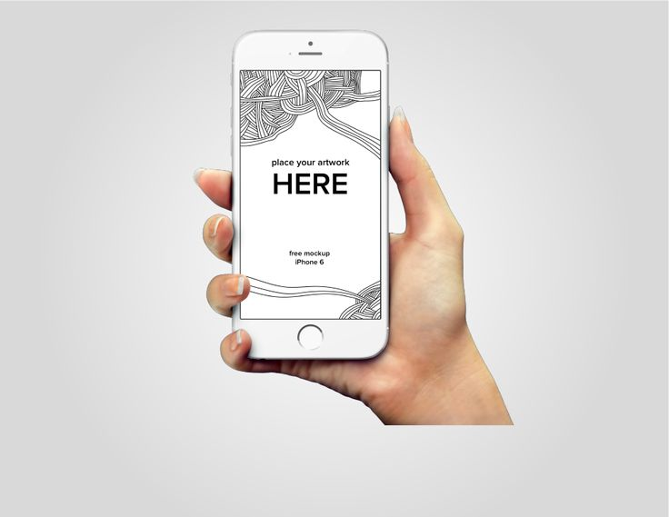 iPhone 6 in-hand PSD mockup