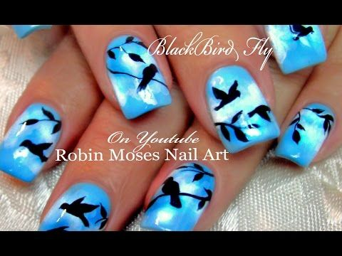 147 best cartoons logos faces nail art by robin moses images on put a bird on it over 15 different bird nail art designs blackbirds prinsesfo Images