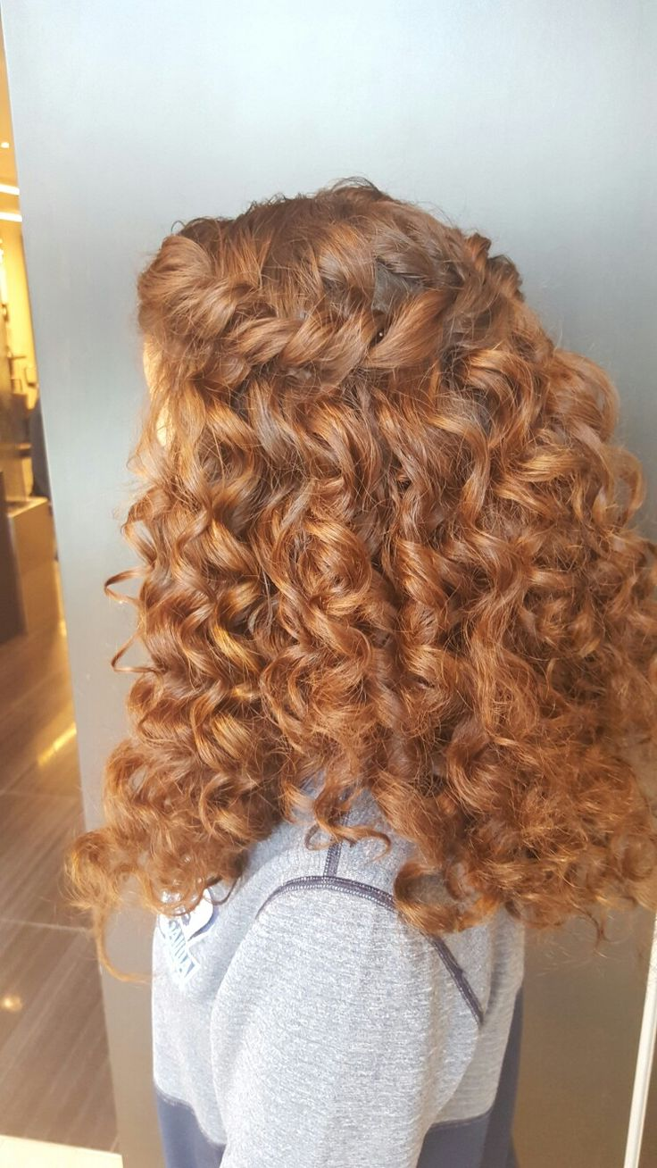 hair curly styles best 25 waterfall braid prom ideas on 1321 | ab4135fa0a88f1839e45a80813c8949d curly copper hair natural curly hair