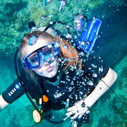 Scuba diving at Japanese Garden in Koh Tao. get below the waterline for another view of paradise. carolyn