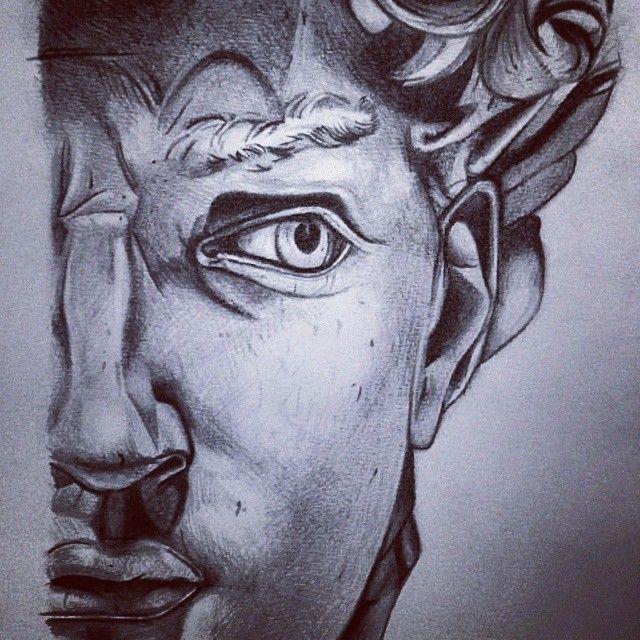 #Drawing #Pencil #Statue #black #white #art #fastsketch