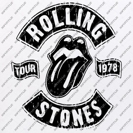 Download The Rolling Stones Svg File-Rock N Roll Svg Design-Clipart ...