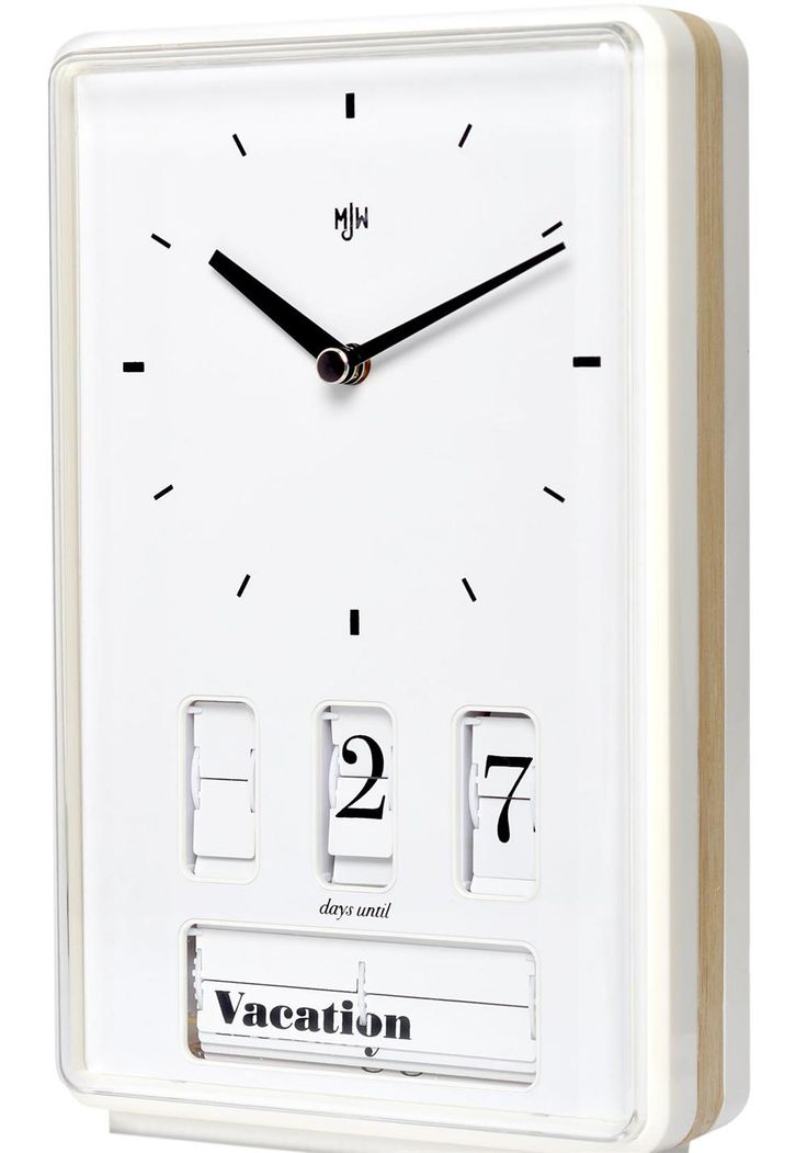 This Mr Jones clock keeps track of the days remaining until your big day - You can choose from 33 different occasions to countdown to. The clock can countdown from 999 days for those who plan their life a long time in advance!