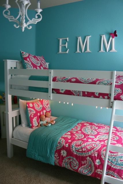 Love This Color Scheme For Cammies Room With White Queen Bed From