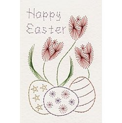 Easter eggs and tulips | Easter patterns at Stitching Cards.