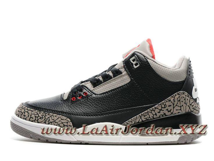 Air Jordan 3 Retro 'Nike Air' Black Cement Chaussures Air Jordan Prix pour  Homme