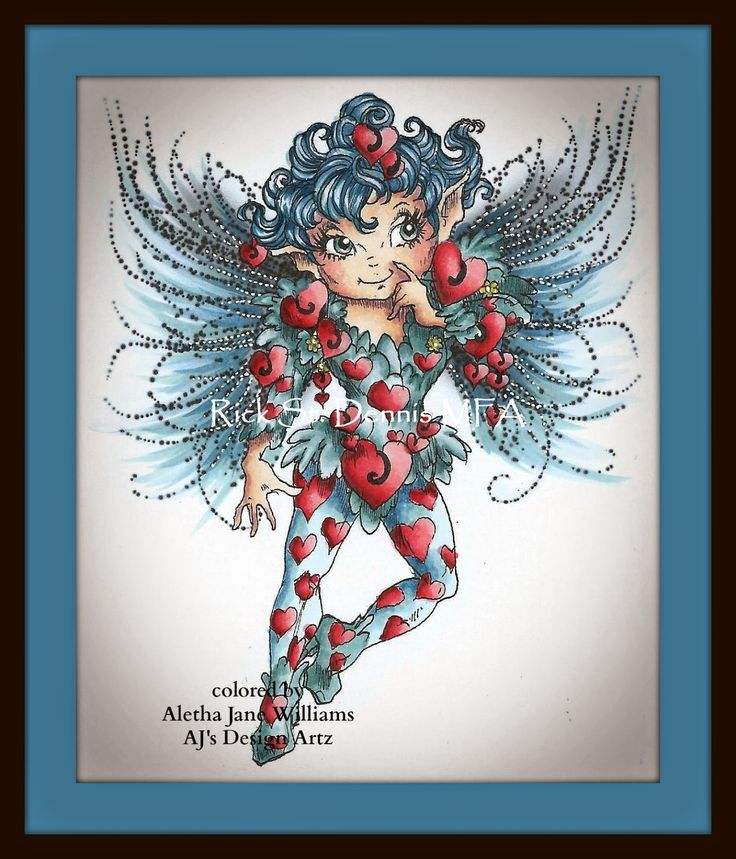 AJ's Alternative Endeavors String of Hearts Fairy by Rick St. Dennis Mfa. #copics #rickstdennismfa #digitalimage