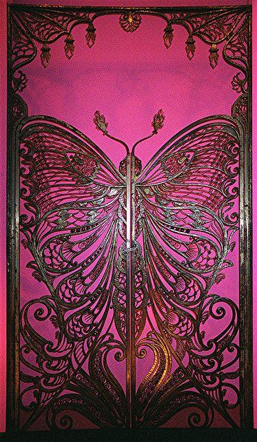 Art Nouveau Butterfly Door | Flickr - Photo Sharing!