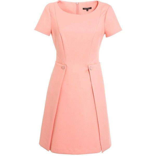Tara Jarmon Heavy Jersey Short Sleeve Dress ($410) ❤ liked on Polyvore