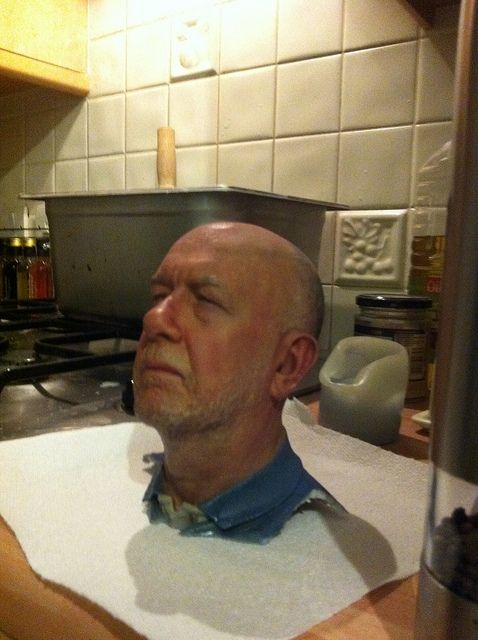 3D print of a man's head!