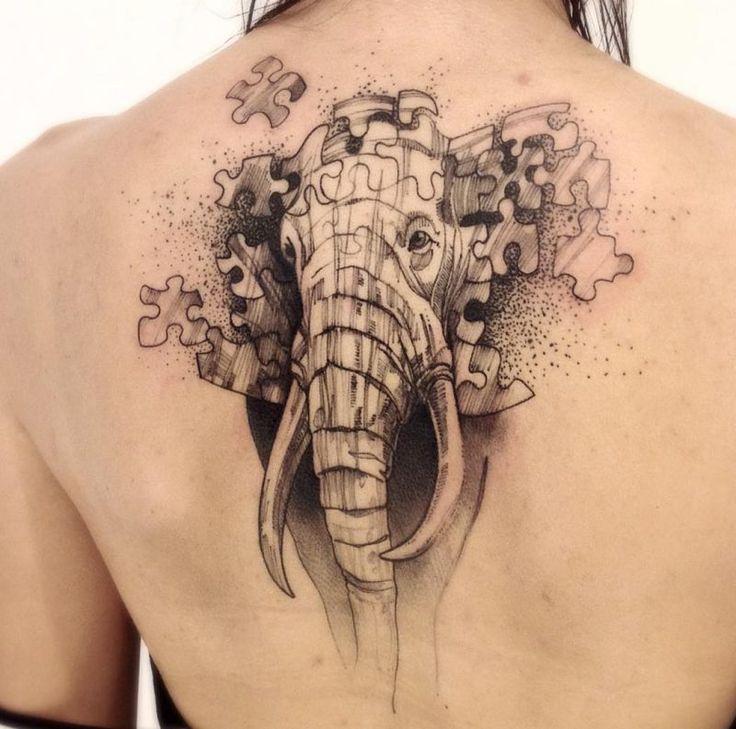 Frauen Schulter Elefant Tattoo