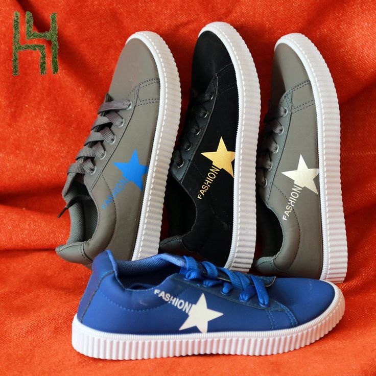 Comfortable All one Star Pattern Soft PU Women Leather Shoe