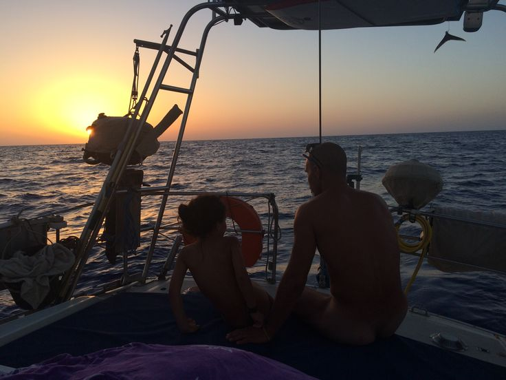 father and daughter time. sailing with kids