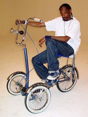 Hay gente que en verdad jamas deberia de andar en bicicleta, o es mas jamas salir de su casa y estaria mas chido... pero bueno, aqui el Snopp en su super elegante trike, hoy ya me puedo morir en paz y decir que ya chingaos vi todo...