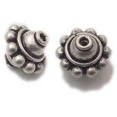 Agreeable sterling silver bali beads