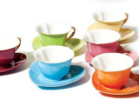 I have this set of tea cups and I love them! Perfect for showers and girl get togethers! I got mine from Steeped Tea