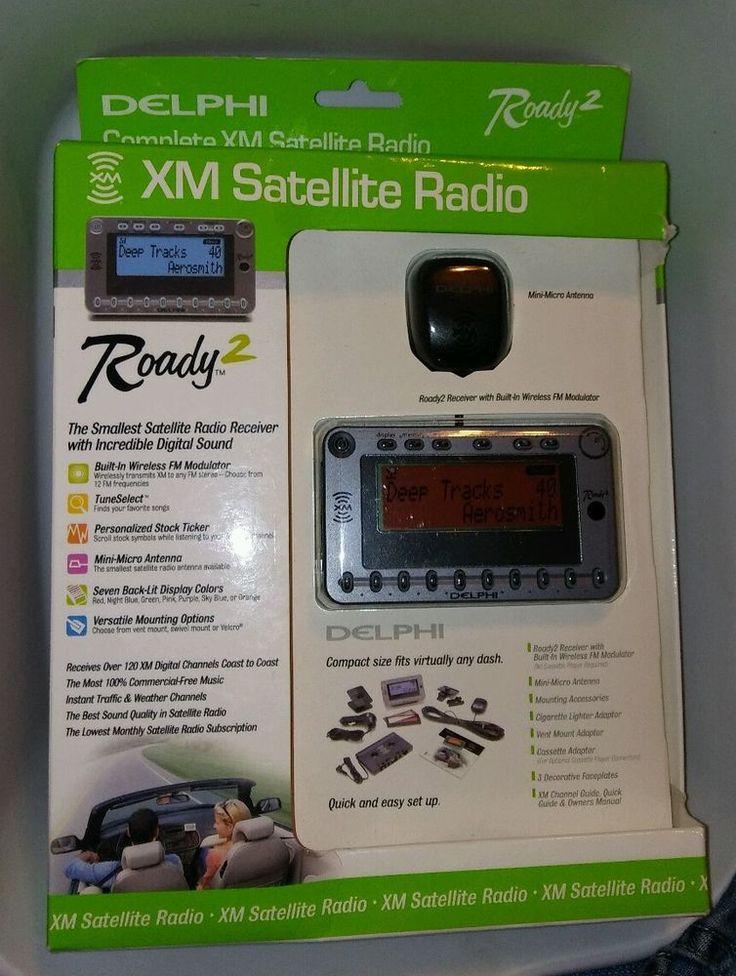 Delphi SA10085 Roady2 XM Satellite Radio Receiver Wireless FM Stock Ticker NIB #XM