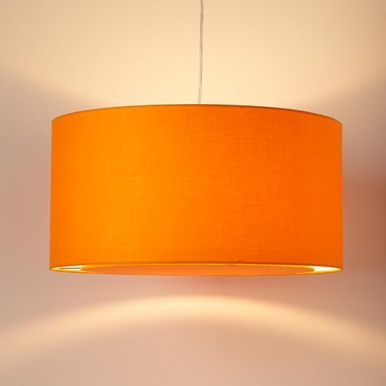 The Land of Nod | Kids' Lighting: Kids Orange Fabric Ceiling Lamp in Ceiling Fixtures