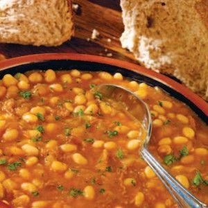Bean soup  (Fasolada) - http://www.icookgreek.com/en/recipes/dishes/item/bean-soup-fasolada?category_id=283