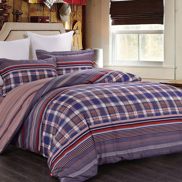 Brand Men Bedding Set King Size Large Size Royal Duvet Covers 4Pcs Bedroom Sets